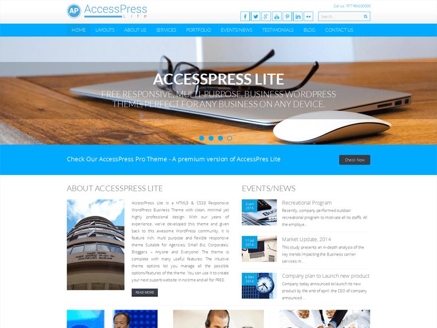 قالب وردپرس Accesspress Lite
