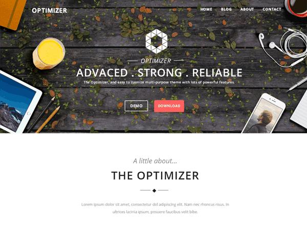 قالب وردپرس Optimizer
