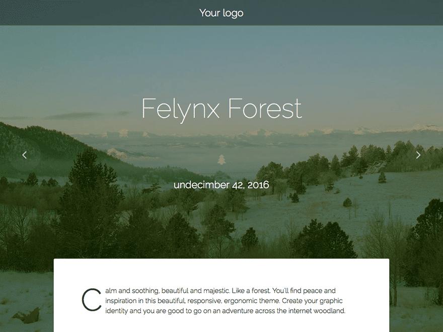 قالب وردپرس Felynx Forest