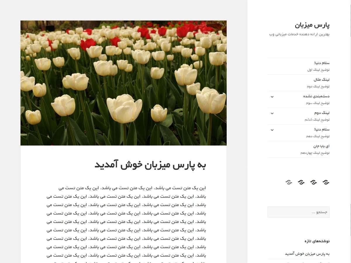 افزونه فارسی ساز قالب و فونت فارسی وردپرس 1