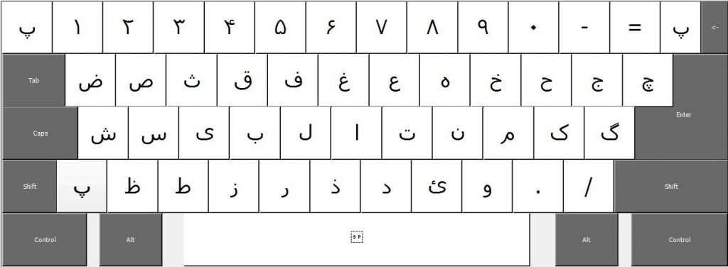 کیبورد فارسی و صفحه کلید استاندارد برای ویندوز